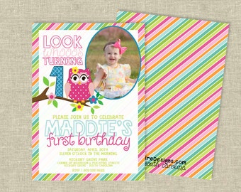 Birthday Party Digital Download | Look Whooo's Turning | Owl