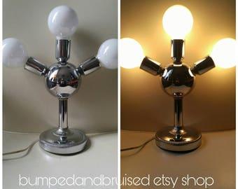 Mid century chrome table lamp / mid century modern / 1960 / MCM