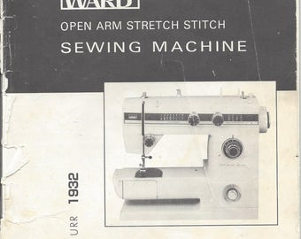 Sewing Machine Manual for the Montgomery Ward model 1932