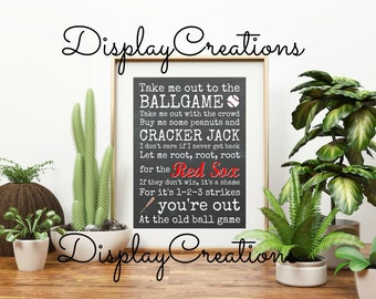 """Personalized """"Take Me Out To The Ballgame - Sports Team"""" Wall Art"""