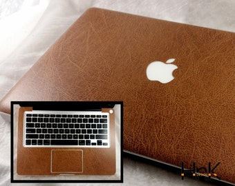 brown leather imitation full skin / MacBook decal/ Macbook vinyl decal/ macbook sticker/ macbook air decal/ macbook pro decal hnkmd123f