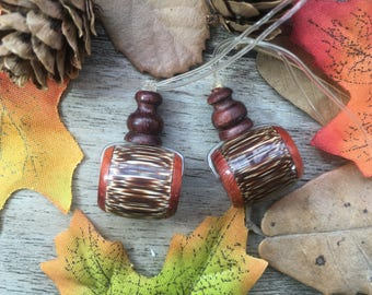 2pc Rosewood+Bambusa Vulgaris Var. striata Wooden Guru Beads Towel Set Loose Beads Charms Ending Supplier