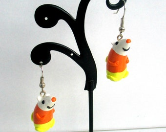 Science adventure time earrings, Polymer clay earring