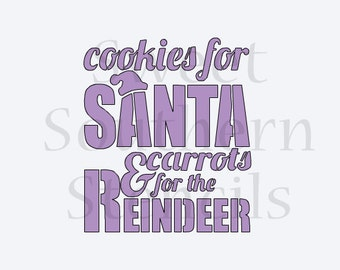 Cookies for Santa & Carrots for the Reindeer Cookie Stencil