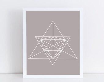 SALE - Minimalist Geometric Art, Abstract Linear Print, Taupe Wall Decor, Modern Minimalist Poster, Neutral Dorm Decor, Printable Wall Art