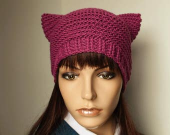 Cat hat, cat, hat, Merinogem, wool, knitted,
