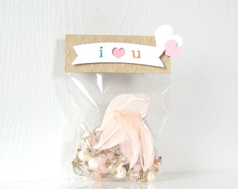 I Heart U Valentine's Toppers: treat bag, goodie bags, valentine bags, class bags, pass out, sweet sayings, puns, school- LRD016V