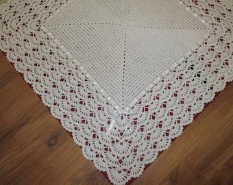 Handmade Crochet Christening Shawl
