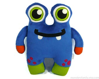 Cute Stuffed Monster Plush Toy Monster Stuffed Animal Nursery Pillow Kids Baby Gift Woodland Animal Stuffed Plushie Soft Doll Gift for Him