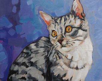 Custom Pet Portrait, Custom Pet Portrait Painting, Custom Pet Art, Custom Pet Painting on Canvas, Acrylic 8 x 10