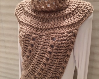 Katniss Inspired Cowl Wrap Top