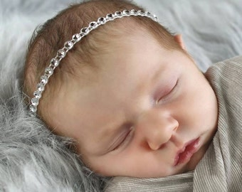 Rhinestone Headband Photo Prop
