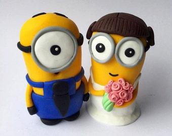 Minion wedding cake topper!