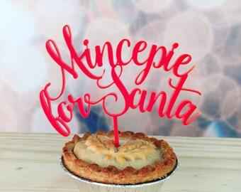 Mini 'Mincepie for Santa' Red Mincepie Topper