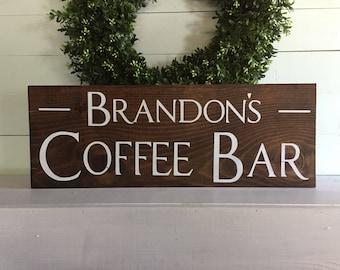Coffee Bar sign, Custom coffee bar sign, Personalized coffee bar sign, custom sign, custom coffee sign, personalized coffee sign