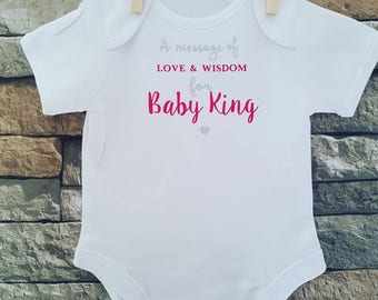 Baby Shower Personalised Vest, Baby Shower Guest Book, Write Your Own  Message, Choice