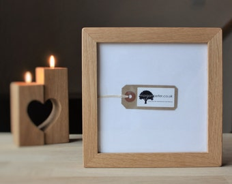 6x6 Wooden photo frames - 6 x 6 - square oak picture frames