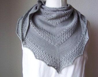 Shawl Knitting PATTERN PDF, Knitted Shawl Pattern, Lace Shawl Wrap Triangle Shawl - Tipsy Shawl