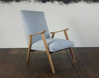 Vintage mid century reupholstered  Arm Chair