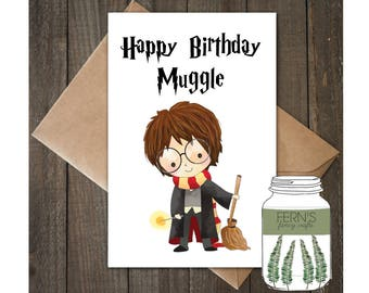 A5 Harry Potter Birthday Card, Personalised