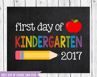 Kindergarten Sign, First day of school sign printable, School Printable Sign, First day of Kindergarten, Kindergarten chalkboard sign,