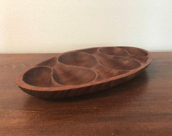 Teakwood Divided Serving Platter - Made in Thailand