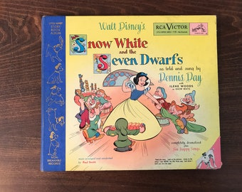 Snow White and the 7 Dwarfs Vinyl and Story - 1949