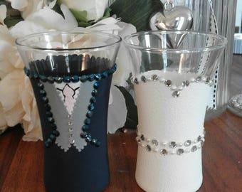 Bride & Groom set (2 Glasses)Wedding Design Shot Glasses
