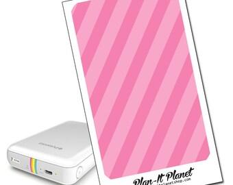 Pink Stripes Zip Mobile Printer Skin