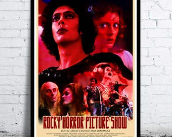 The ROCKY HORROR PICTURE show - movie poster / print  - [ Tim Curry Susan Sarandon Barry Bostwick Janet Weiss Frank-N-Furter ] musical 1975