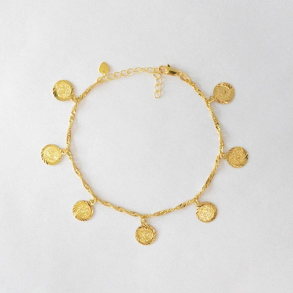 il gold hotwife personalized dragonfly initial anklet jewelry inch listing