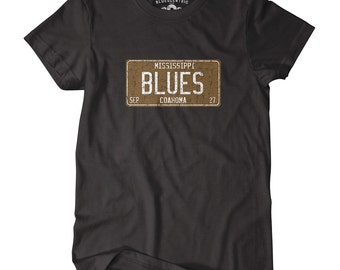 Mississippi Blues T-Shirt - Classic Heavy Cotton