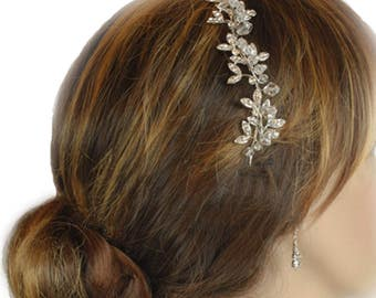 Diamante Hair Vine, Bridal Hair Vine, Wedding Hair Vine, Hair Jewellery, Bo Ho Hair Vine, Bridal Hair Vine, Woodlands  Hair Vine