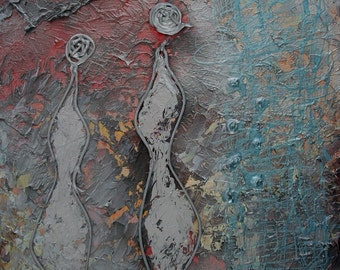 Eternity - abstract painting, 40 x 50 x 1,5 cm by Virginiya Savova, abstract, emotion, pure