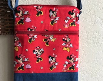Minnie mouse crossbody bag -made to order