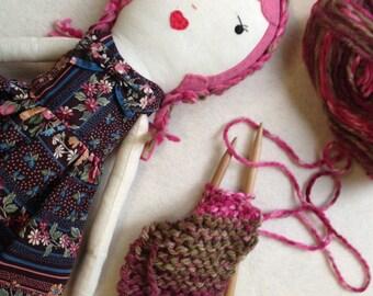 Rag Doll / Handmade Rag Doll / Fabric Dolls /Custom Made Cloth Dolls / Dolls / Spoon Ragdoll / Children's Toys / Stuffed Lovies