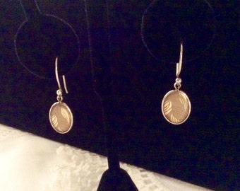 Vintage Sterling Silver and Goldfill Earrings