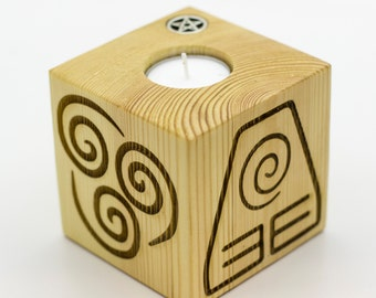 Elements Candle Block 90mm