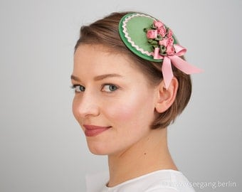 Fascinator Green Rose bavarian style