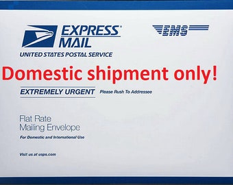 Upgrade to USPS Priority EXPRESS Mail, for USA only - Overnight Service (1 or 2 Days)