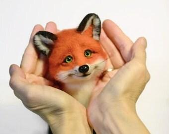 Red fox doll Felted fox Handmade red fox Needle felted fox Fox animal Beautiful fox Figurine fox Sculpture fox Felt toy fox Sly Fox Cute fox