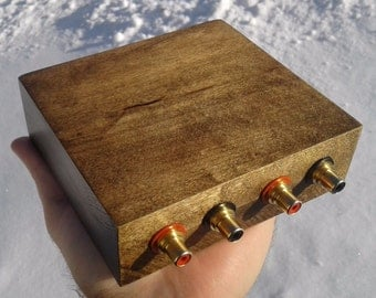 Solid Maple Passive Stereo Attenuator Preamplifier Stage for Audiophile Purists.