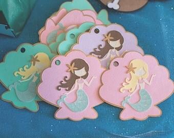 Mermaid Party, Decor, Mermaid Favor Tags, Loot Bag Tags, Favor Bag ...