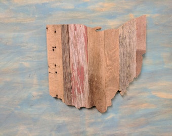 State of Ohio Barn Board Sign, Wooden Sign, Ohio, Wooden Ohio Sign, Reclaimed, Barn Wood