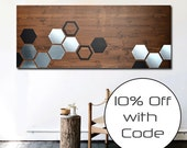 Modern Art - Wood Wall Art - Metal Wall Art - Wood Art - Modern Artwork - Modern Painting - Geometric Art - SALE - 10% OFF with COUPON Code
