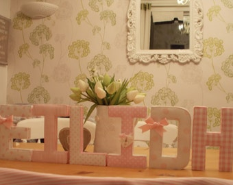 Beautiful Hand-made fabric Letters