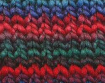 Euro Baby - Maypole Chunky Self Striping 100% Polyester Yarn Color 21 Lot 141221 - Jade, Blue, Red