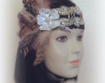 1920s headband/Gatsby headband/Flapper headband/Wedding headband/wedding accessories/CoCo