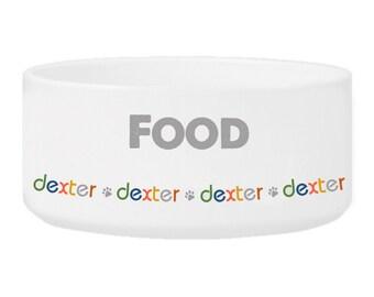 Personalized Dog Bowl - Boy Dog Food Bowl - Large Pet Bowl - Water Bowl for Dogs - Dog Dish - Ceramic Dog Bowl -  Pet Gifts - Dog Supplies