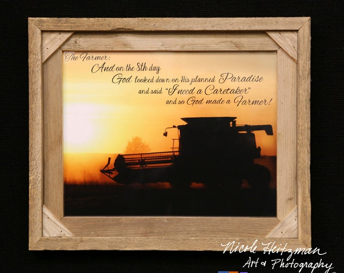 The Farmer saying Christmas gift for Dad International Combine photo Father's Day gift for men farmer gift harvest photo by Nicole Heitzman